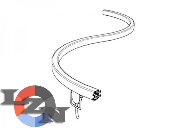 Криволинейный закрытый троллейный шинопровод