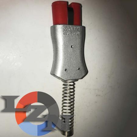Разъем двухконтактный термостойкий (ZA727Si)-TX1004 - фото №1